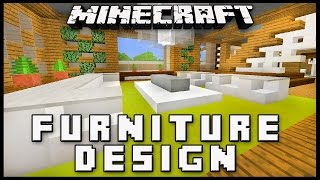 Minecraft: How To Make Furniture For A Living Room  (Modern House Build Ep. 18)