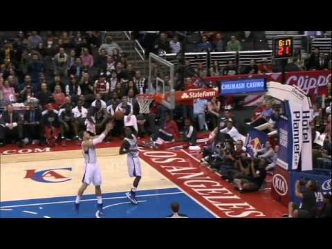 Jamal Crawford between-the-leg alley-oop to Blake Griffin windmill jam!