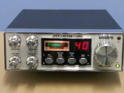 uniden PC-404, 40 CH, FM CB-radio, picture show