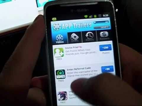 App Trailers 101 for Android Glitch and 90 Points Bonus Code