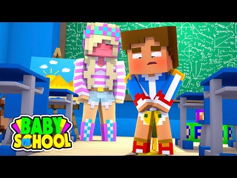 Minecraft BABY SCHOOL || BABY DONNY WETS HIS PANTS IN THE SCHOOL CLASSROOM || Minecraft Roleplay