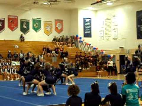Reavis Varsity cheerleaders