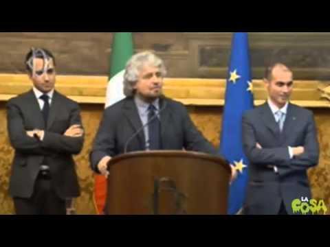 Beppe Grillo e Matteo Renzi 19-02-2014