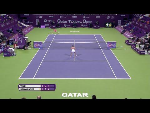 2016 Qatar Total Open Quarterfinal Hot Shot | Agnieszka Radwanska