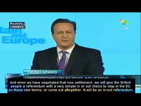 David Cameron pledges 'In-Out' EU Referendum