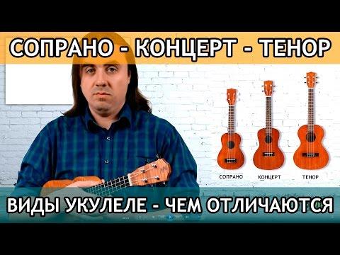 Виды укулеле -  сопрано, концерт или тенор -  что лучше? | Укулеле.ру