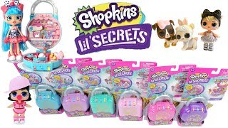 Abriendo Candados Shopkins Lil' Secrets set completo - La Magica escuela de Curious QT