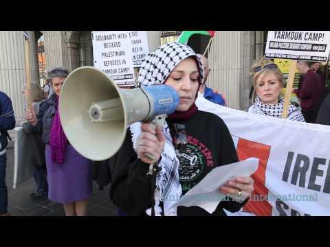 Ireland solidarity with Yarmouk refugee camp- Fatin Al Tamimi