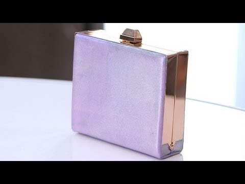 DIY Fashion | Iridescent Metallic Clutch | Fashion How To
