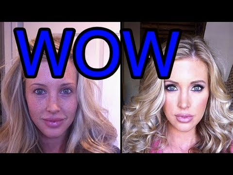 50 Porn Stars With And Without Make-up video
