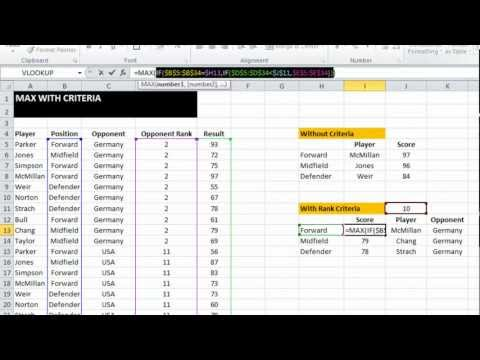 EAF #23 - Find the Max value in a dataset using criteria - MAX IF Array formula