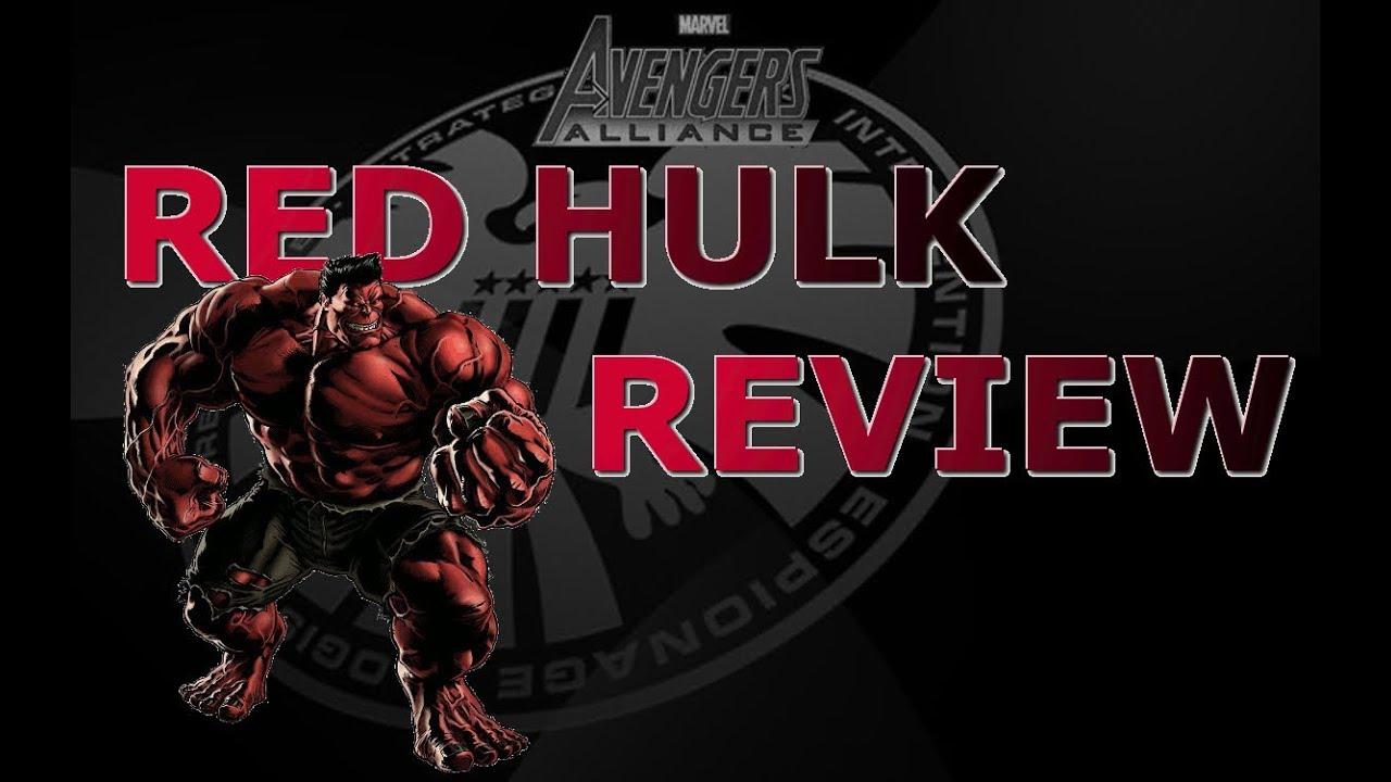 Marvel Avengers Alliance: Red Hulk Character Review - YouTube