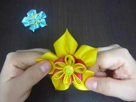 Manualidades y accesorios la hormiga. como elaborar flores dobles en una solo paso  Video No.116