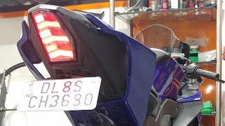 Yamaha R15 V3 Integrated Tail Light Installation In India