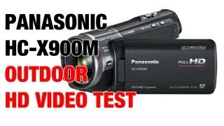 Panasonic HC-X900M Outdoor Zoom & Focus Test