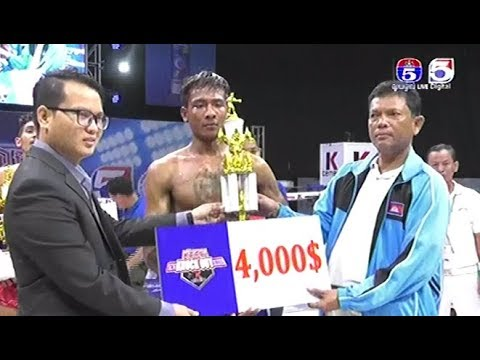 Sao Vanna vs Oum Vannet, Khmer Boxing TV5 13 Jan 2018, TV5 Knok Out Series Champion