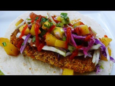 Receta Tacos de Pescado con Pico de Gallo de Duraznos, how to cook,