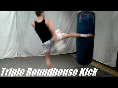 Taekwondo Triple Round Kick Tutorial (Kwonkicker)