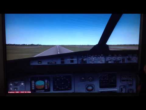 FSX Indigo Airlines Landing At Colombo, Sri Lanka (Cockpit