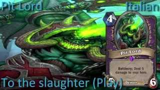 Pit Lord card sounds in 12 languages -Hearthstone✔