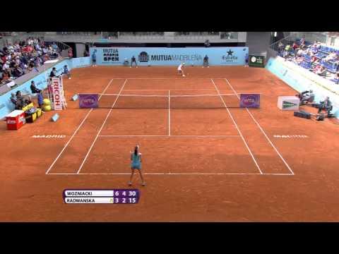 Agnieszka Radwanska 2015 Mutua Madrid Open Hot Shot