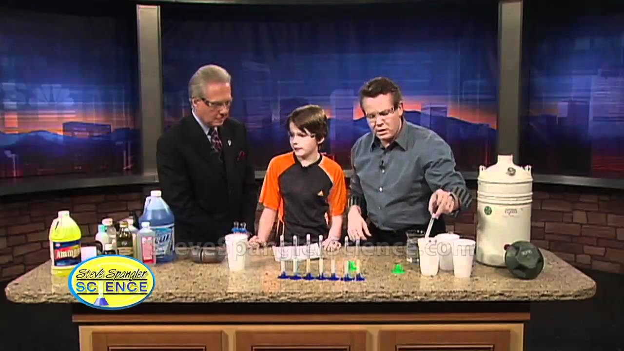 Freezing liquid cool science fair project youtube