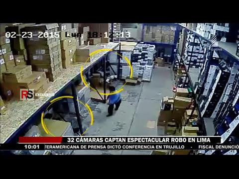 Lima: Espectaculares robos son captados por cámaras de seguridad