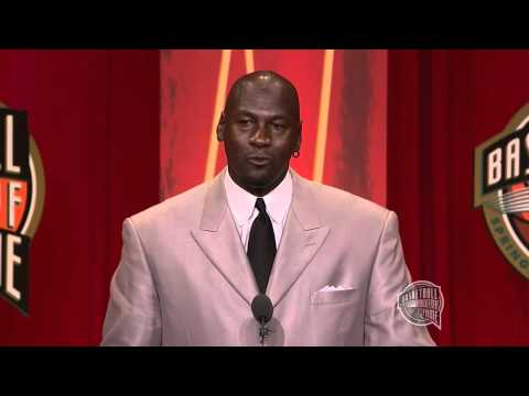 Michael Jordan's Basketball Hall Of Fame Enshrinement Speech video