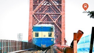Jayantika Express Train Hauled By Korean Hyundai Rotem Loco Entering Old Bhairab Rail Bridge