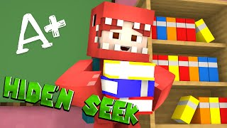FIRST DAY OF SCHOOL! | Minecraft  School Hide and Seek w/ SGCBarbierian and Gray!