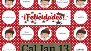 Cumpleaños Feliz, En Rumba Catalana (Flamenco). Cal Jan 13.