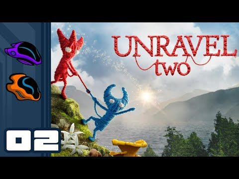Let's Play Unravel 2 [Coop] - PC Gameplay Part 2 - A Hop, A Swing, And A Jump!