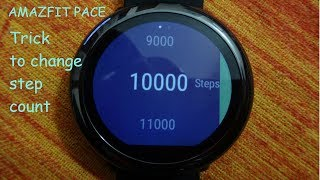 Amazfit - How to change step goal, count on Amazfit pace smart watch