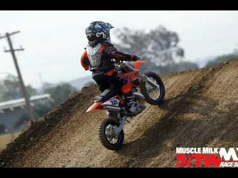 4 Year Old Kid Riding KTM 50 SX Dirt Bike