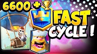 6600+ TOP 400 LIVE LADDER GAMEPLAY WITH BEST LOON CYCLE DECK! - CLASH ROYALE