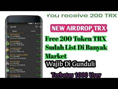 Gratis 200 Coin TRX ||Gasskeun Terbatas ||Sudah List Fi Puluhan Market