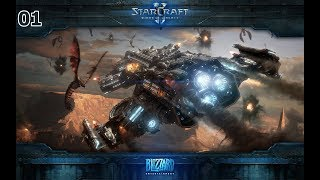 Let's Play Starcraft 2: Wings of Liberty - Part 1 (Reupload)