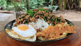 Cooking rice fried with pork recipe - Natural life TV