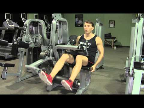 Hamstring Curl - Leg Curl Machine  - HASfit Machine Exercises - Machine Exercise Workouts Image 1
