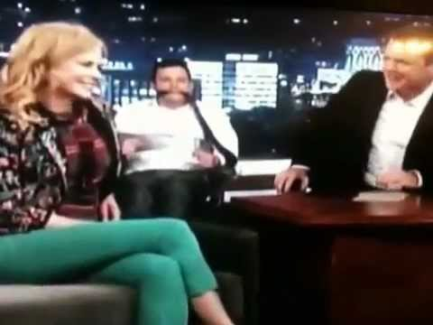 Nicole Kidman gives Jimmy Kimmel a lap dance