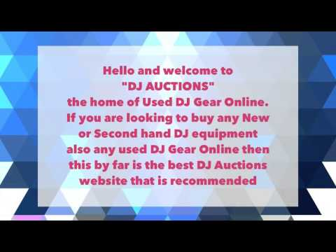 DJ AUCTIONS The Home Of Used DJ Gear Online