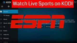 How to Install ESPN3 Kodi Add-on