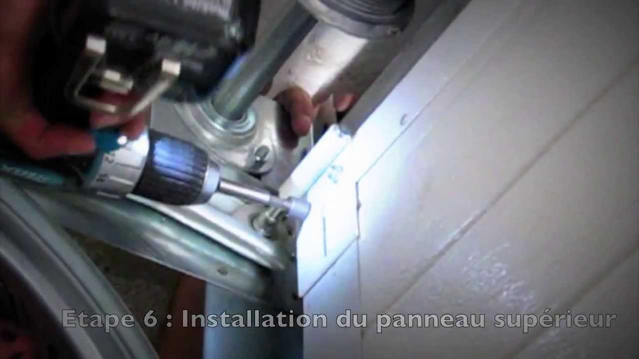Installation porte de garage sectionnelle NAO  YouTube