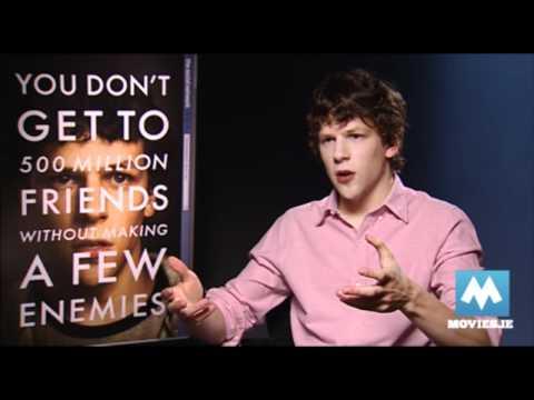 Jesse Eisenberg plays Mark Zuckerberg in THE SOCIAL NETWORK - Interview