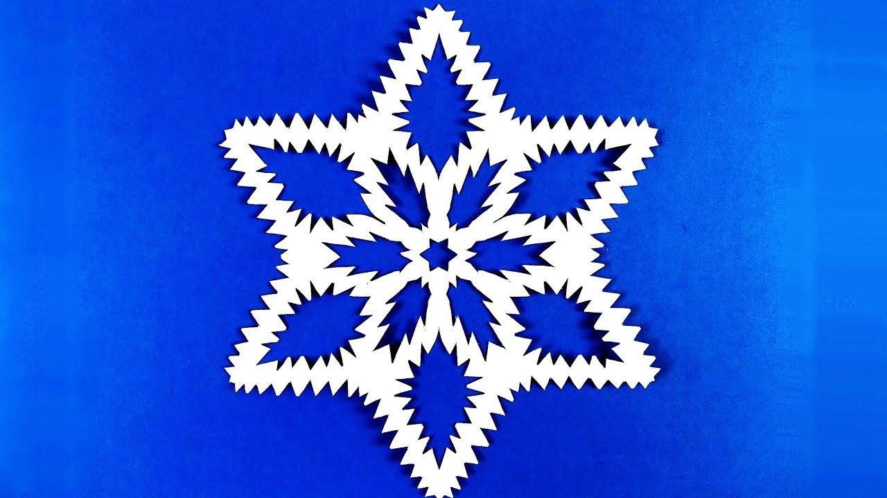 Как сделать снежинку и листа бумаги