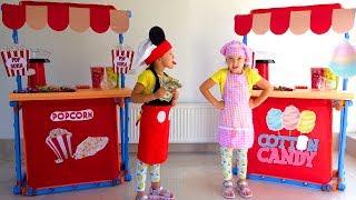 Ksysha and Ksenia neighbor Pretend Play Ice Cream Shop Toys