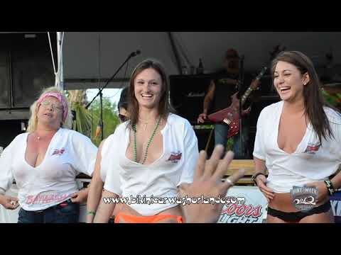 Baywash Wet T-Shirt Contest - Bike Week 2012