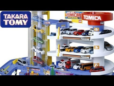 Tomica Auto Parking Garage Playset Tower Review Takara Tomy Using Small Cars 2 From Disney Pixar