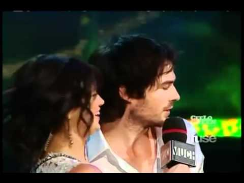 Nina Dobrev and Ian Somerhalder at the 2011 MMVA.mp4