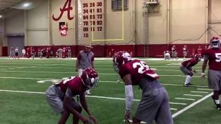 Alabama spring practice day 3: Nick Saban works with defensive backs